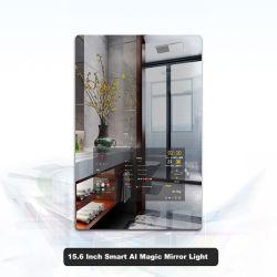 Ai inteligente LED de luz del espejo mágico para baños y Salones