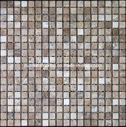 La luz mosaico de mármol marrón emperador (HSM126)