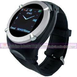 Leitor de vídeo MP3 MP4 celular GPRS relógio de pulso da tela de toque (WTWS102)