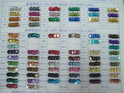 두 배 색깔 Sequins 조각 색깔 카드 (DSC00156)