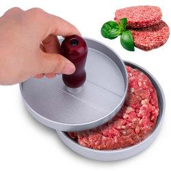 Hamburger-Presse-Aluminiumlegierung-Hamburger-Fleisch-Rindfleisch-Gitter-Burger-Presse-Pastetchen-Hersteller-Form