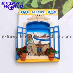 프로모션 레진 관광 선물 포르투갈 알가브 냉장고 자석 기념품용 자석