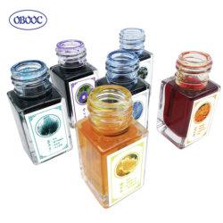 Piccola bottiglia di vetro liscio scrittura penna Fountain ricarica inchiostro per Studente scolastico