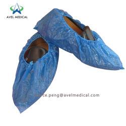 PP Nonwoven desechables Cubrezapatos plástico PE/CPE Cubrezapatos Limpia Cubrezapatos pie recubierto de PE impermeable CUBIERTA Cubierta de patín contra el uso de laboratorio cubrezapatos
