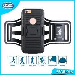 De zwarte Sporten die van de Telefoon van de Kleur Mobiele Bijkomende Aanstotende het Geval van de Armband voor iPhone 6 in werking stellen