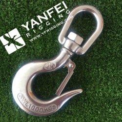 crochet d'émerillon d'acier inoxydable de 12mm avec le cran de sûreté