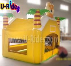 Tenda stretta dell'aria gialla gonfiabile dei bambini per il partito
