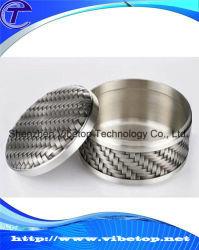Мини-Bamboo-Like серебро за круглым столом для приготовления чая и Caddy Тин может