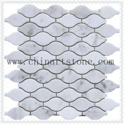 China Ventilador Carrara Branco /Ronda Padrão de pedra de granito e mármore Mosaico