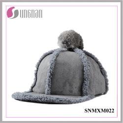 Cappello da cappello Sweet Girls con cappuccio piatto a palla in pelliccia
