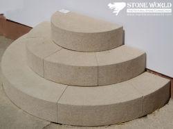 De beige Blokken van de Stap van het Graniet voor Binnen & Openlucht (ST011)