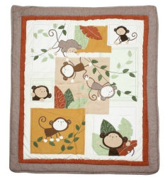 Retalhos Quilt de Year Crib de 2016 macacos com Lovely Monkeys para Baby