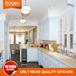 Modern Design Massief Houten Keuken Kabinet Meubels Blauw Schilderen