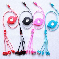Универсальный складной 4 в 1 зарядное устройство USB молнии кабель для iPhone