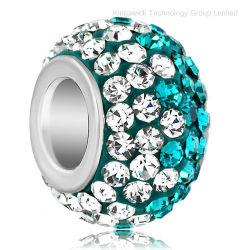 European Rhinestone Crystal paver les perles en argent