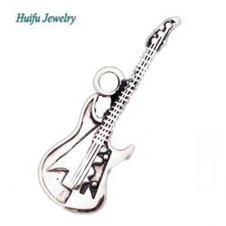 Moulage artisanal de souvenirs de la guitare pendentif en métal