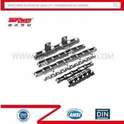 Chaînes d'entraînement de précision à pas double (A & B Série) ANSI/DIN/ISO standard