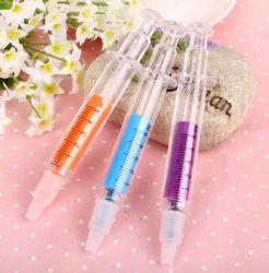 La forme d'encre colorée en forme d'injection seringue Marqueur surligneur
