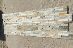 Quarz-Schiefer-Wand-Stein Hebei-P014 Beige-Gelber für Umhüllung/Gebäude