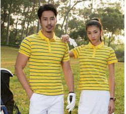 High-End Overhemd van de Polo's van de Streep van Wicking van de Vochtigheid van de Kwaliteit het Unisex-