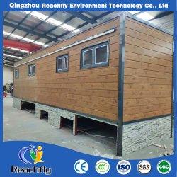 Fußboden-Holz des Versandbehälter-Größen-modulares Ausgangs2 40 Fuss-Behälter-Luxuxfertiginstallationssatz-Haus