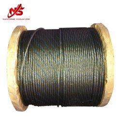 丸形ストランド亜鉛メッキなしスチールワイヤロープ 6X19 A2 グリース