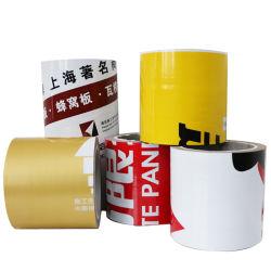 L'adhésion temporaire Black-White PE Bande de protection de la surface des produits en aluminium