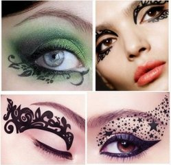 2016 новой моды Sexy временные глаз Tattoo воды передача Eyeshadow Eyeliner стороны сталкиваются с наклейкой салон красоты Косметический дизайн