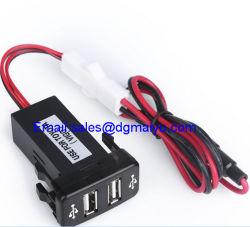 USB universale di Double Dual 2-Port in Car Socket Adapter 12V-24V per Toyota Vigo