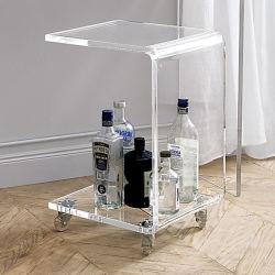 Pernas de mesa de café em vidro acrílico com impressão de Design