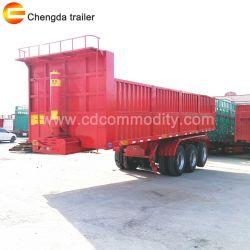 China Mining USD semi reboque de descarga \40ton-60toneladas Reboque Traseiro