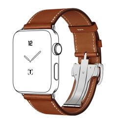 precio de fábrica mejor venta de buena calidad de 38mm 42mm Brown Correa de Reloj de Cuero plena flor