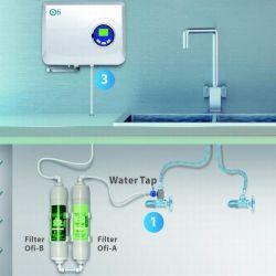 Colpire Ozone leggermente Water Purifier HEPA Filter per Home Used