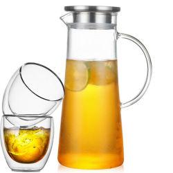 Chaleira de água vidro Pyrex vidro vidro jarra de Bebidas Arremessador de água de vidro definido