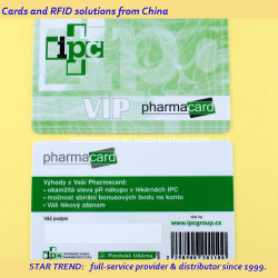 CMYK-Vorgedruckte Barcodes-PVC-Kunststoffkarten Cr80 Standardgröße für Treuekarte