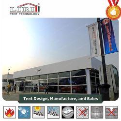 Techo inflable Double Decker Carpa con paredes de vidrio para el Auto Show de clase alta eventos