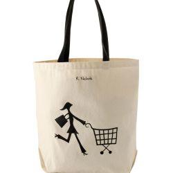 Grandi sacchetti di Tote su ordinazione della tela di canapa del cotone di acquisto per il commercio all'ingrosso (CTB-1003)