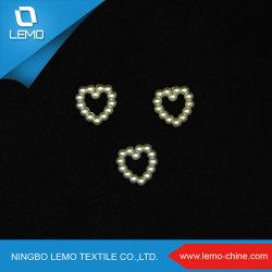Polido decorativas 10mm em forma de coração ABS plástico Pearl cordões