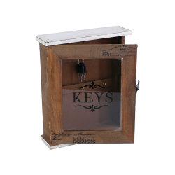 Nuova casella di legno antica per la catena chiave domestica