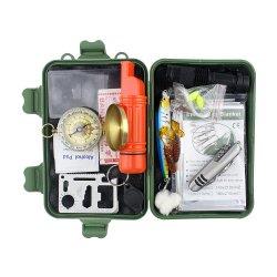 Emakの専門の存続の道具箱をハイキングするために存続する1屋外に付き緊急の存続の懐中電燈キット22