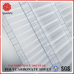 La Chine en polycarbonate Multi-Color Quanfu 3 Feuille de creux de la couche pour effet de serre