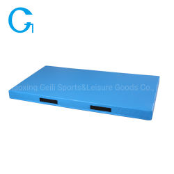 Ginástica azul exercício lavável Workout tapete tapetes para os desportos de luta