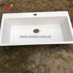 La fibre de verre porcelaine sanitaire des produits Table de salle de bain haut de la vanité du bassin de lavage