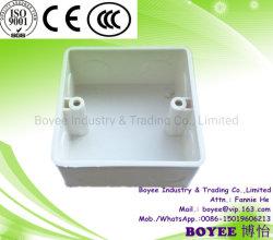 El PVC en la pared del tubo de conductos eléctricos Caja Caja de Ras