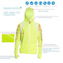La protection solaire T Shirt anti UV Hommes Manchon long manteau léger de vêtements de pêche Hoodie Sport Vêtements Vêtement respirant à séchage rapide protection solaire