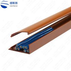 良質電気PVCダクト配線の床プラスチック細長かったケーブルの導通