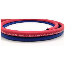 Tubo flessibile gemellare di gomma della saldatura del grado 1/4 della R '' con a fibra rinforzata