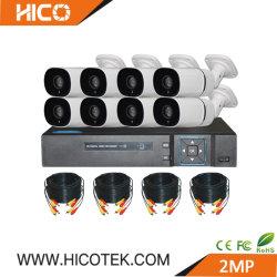 kit autonomi della macchina fotografica DVR Xvr NVR del IP Ahd Cvi Tvi IR del CCTV di 8CH 2MP 1080P per il sistema di registrazione esterno di obbligazione domestica
