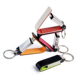 Счастливых Праздников Печать логотипа USB флэш-накопитель из натуральной кожи