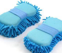 Super Car Wash Porta-luvas do lado do carro de microfibras de toalhas macias pelúcias esponja de limpeza do automóvel fornece